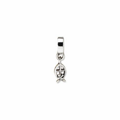 Sterling Silver Reflections Ichthus Dangle Bead