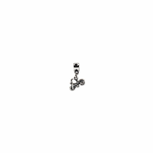 Sterling Silver Reflections Kids Bicycle Dangle Bead