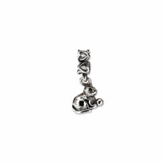 Sterling Silver Reflections Kitten with Ball Dangle Bead