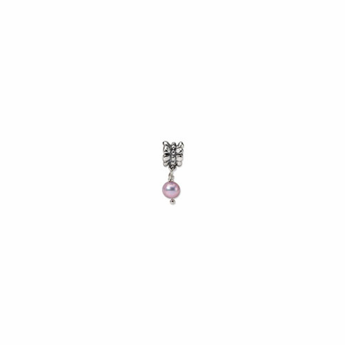 Sterling Silver Reflections Lavender FW. Cultured Pearl Dangle Bead
