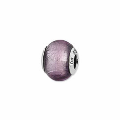 Sterling Silver Reflections Lavender Italian Murano Bead