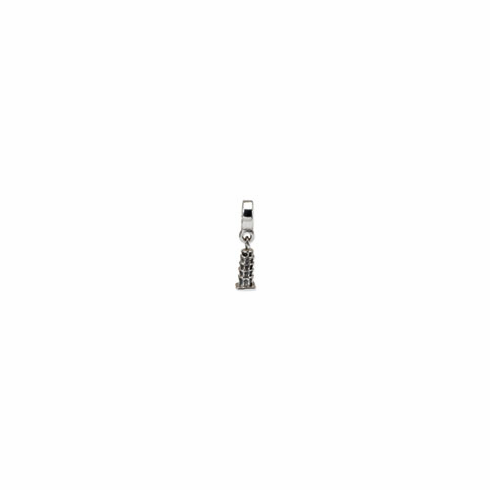 Sterling Silver Reflections Leaning Tower of Pisa Dangle Bead