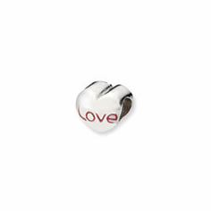 Sterling Silver Reflections Love Heart Bead