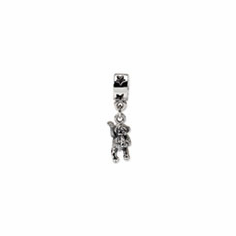 Sterling Silver Reflections Monkey Dangle Bead