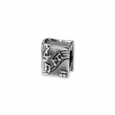 Sterling Silver Reflections Music Book Bead
