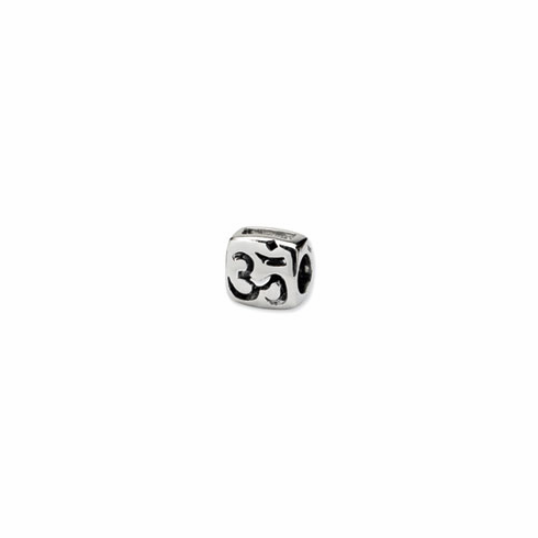 Sterling Silver Reflections Om Symbol Bead