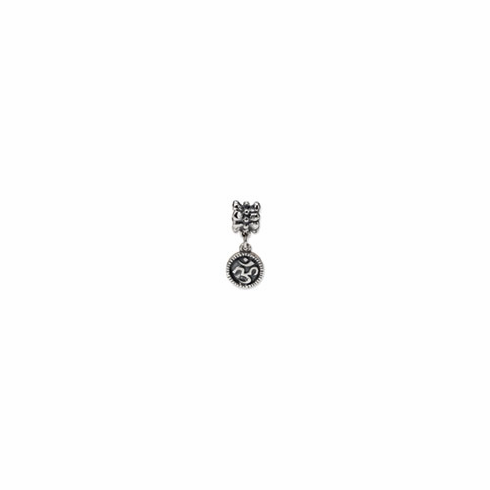 Sterling Silver Reflections Om Symbol Dangle Bead