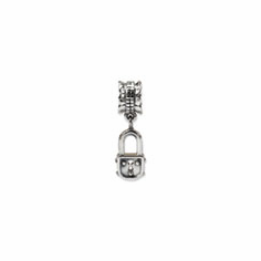 Sterling Silver Reflections Pad Lock Dangle Bead