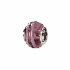 Sterling Silver Reflections Purple/Pink Italian Murano Bead
