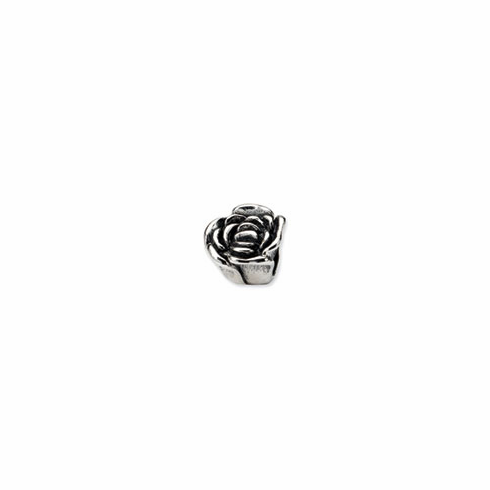 Sterling Silver Reflections Rose Floral Bead