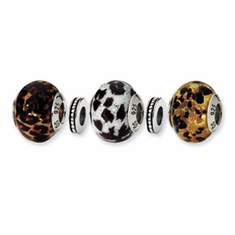 Sterling Silver Reflections Running Wild Boxed Bead Set