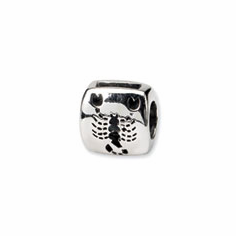 Sterling Silver Reflections Scorpio Zodiac Antiqued Bead