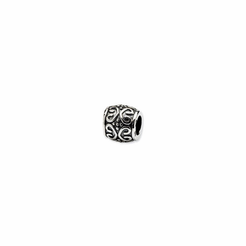 Sterling Silver Reflections Scroll & Dots Bali Bead