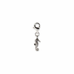 Sterling Silver Reflections Seahorse Click-on for Bead