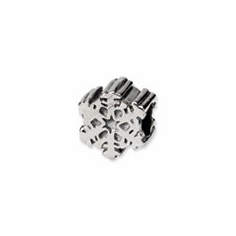 Sterling Silver Reflections Snowflake Bead