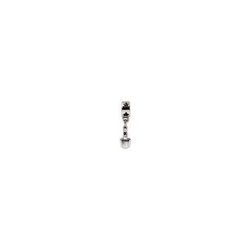 Sterling Silver Reflections Spade Dangle Bead