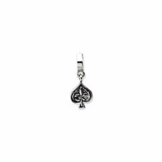 Sterling Silver Reflections Spades Dangle Bead