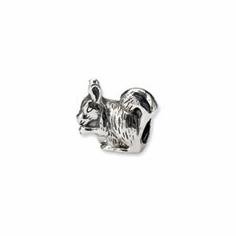 Sterling Silver Reflections Squirrel Bead
