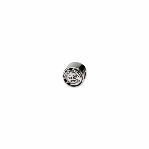 Sterling Silver Reflections Sun/Moon Bead