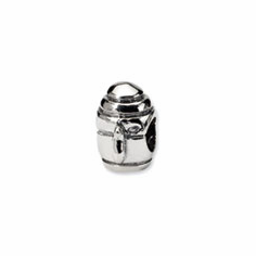 Sterling Silver Reflections Teapot Bead