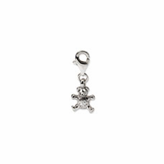 Sterling Silver Reflections Teddy Bear Click-on for Bead