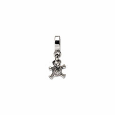 Sterling Silver Reflections Teddy Bear Dangle Bead