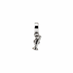 Sterling Silver Reflections Trumpet Dangle Bead