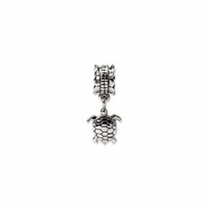 Sterling Silver Reflections Turtle Dangle Bead