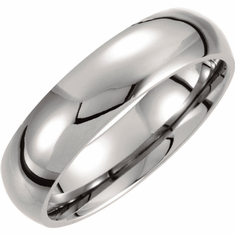 Titanium 6mm Domed Polished Band