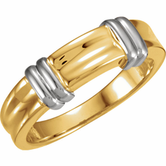 Two-Tone Gold Bands