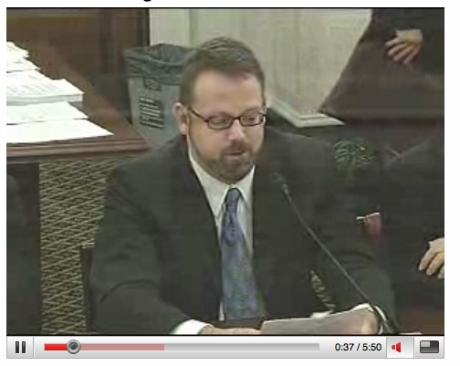 2008.06 Rob Snell Congressional Testimony, Press, Links, Documentation, Etc.