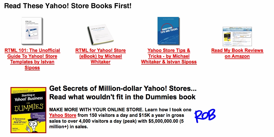 Read These OTHER Yahoo! Store Books, Too!
