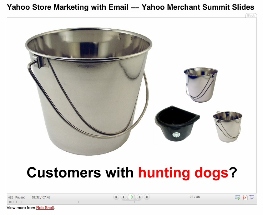 Yahoo Store Marketing with Email