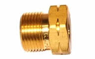 "N2500 Superior or AW-14 Western Enterprises 5/8""-18 LEFT-HAND ""B"" Inert Arc Hose Nut - WATER (1-Pack)"