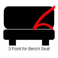 3 Point Non-Retractable Seat Belt Bench Seat