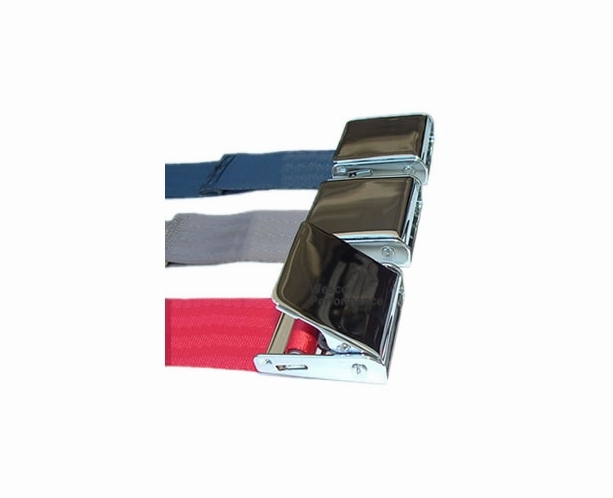 3 Point Retractable Seat Belt Chrome Seatbelt Buckle for Convertibles or Hardtops - alternative view 2