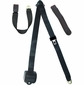 3 Point Retractable Seat Belt with End Button Release Seatbelt Buckle
