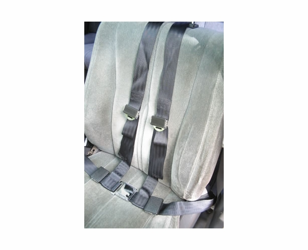 7dd81aad6b 4 Point Seat Belt Chrome Lift Lever Buckle (Gray Shown) - alternative view 1