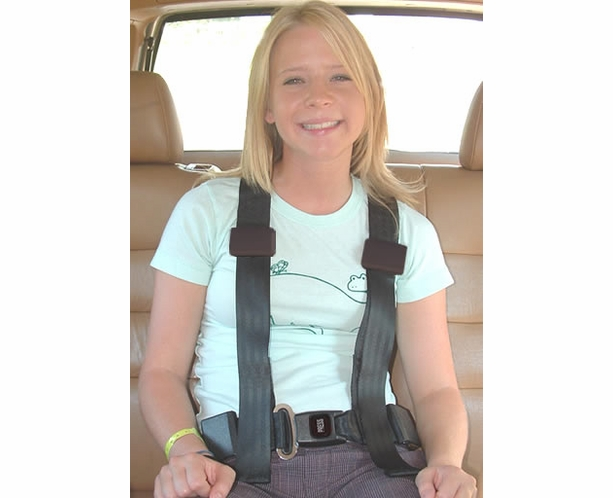 4 Point Seat Belts - Push Button Buckle (Charcoal Shown)