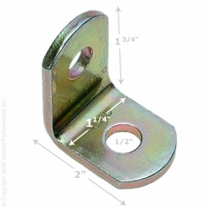 Angle Bracket - #A904L - Installation Floor Mount Seat Belt End