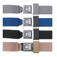 Lap Belts with Vintage Starburst Buckle