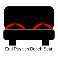 Lap Only Retractable Bench End Seat Belt-High or Low Seat