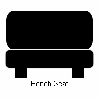 Lap Only Retractable Seat Belt Bench End or Middle