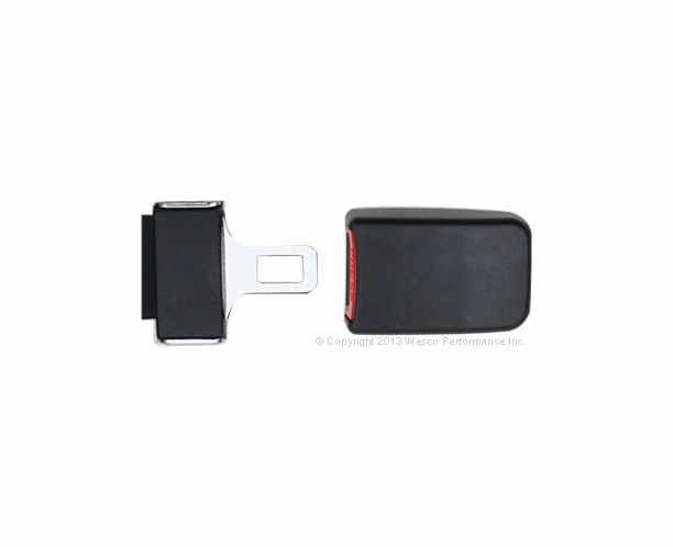 Long Sash Guide 3 Point Retractable Seat Belt End Button Buckle - alternative view 2