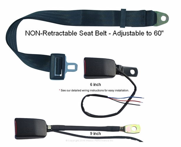"Micro-Switch Forklift Tractor Non-Retractable Seat Belt ""Circuit Closed"" & ""Circuit Open"" - alternative view 1"