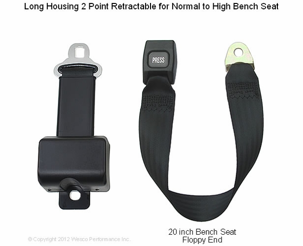 Retractable Lap Seatbelt Bench End Normal To High Seat