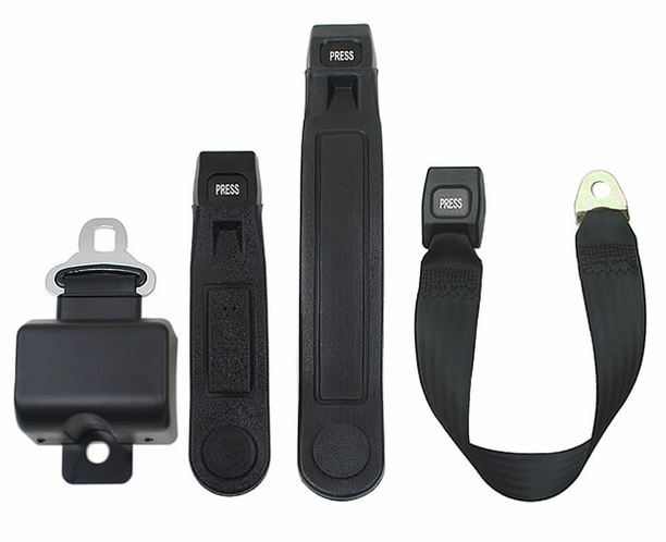 "Seat Belt 2 Point Retractable 5"" Short Housing Lap Belt"