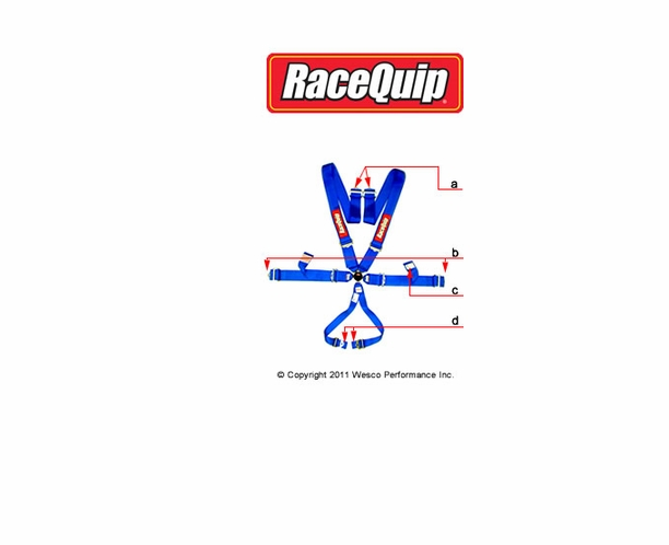 SFI & FIA 6 Point Harness Camlock Seat Belt by Racequip Customize to Your Needs - alternative view 1