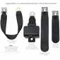 Short  Housing Retractable Lap Belt Starburst Metal Buckle Seat Belt