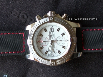 Breitling on red stitch maratac composite watch strap